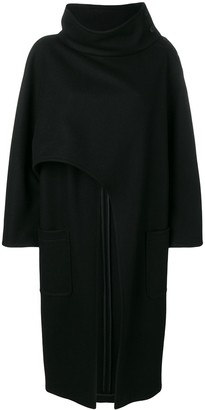 Alberta Ferretti Asymmetric Lose Cape Coat