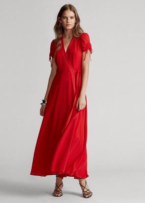 Ralph Lauren Crepe Wrap Dress