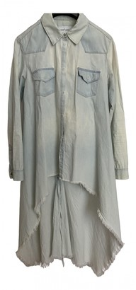 Marques Almeida Blue Cotton Dresses
