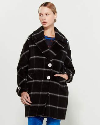 Mariella Rosati Windowpane Two-Button Coat