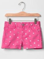 Gap 1969 Metallic Dots Denim Shorty Shorts