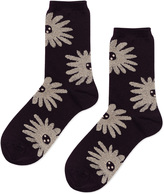 Hansel from Basel Dahlia Floral Cotton-Blend Socks