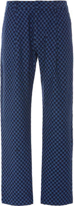 The Elder Statesman California Checkered Wool Trousers