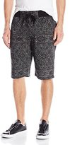 Southpole Men's Jogger Shorts In French Terry with Aztec and Patterns