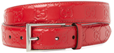 Gucci Signature Leather Square Buckle Belt