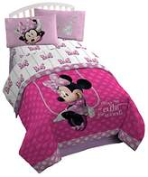 "Disney Minnie Mouse Bowtique Faux Fun 39"" x 75"" Twin Sheet Set"