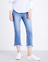 Sjyp Frayed-hem straight high-rise jeans