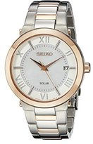 Seiko Women's SNE882 Two-Tone Stainless Steel Watch with Link Bracelet