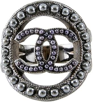 Chanel CC Silver Metal Rings