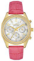 Caravelle New York Chronograph Dress Collection Leather Watch