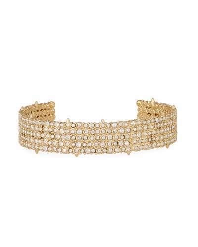 Alexis Bittar Pave Crystal Cuff Bracelet