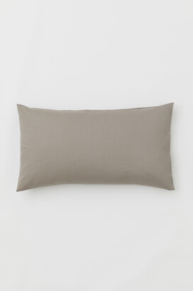 H&M Cotton Pillowcase - Brown