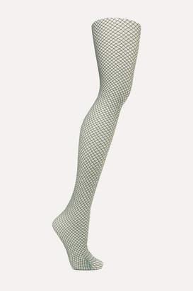 Wolford Diamond Snake 20 Denier Tights - Gray green