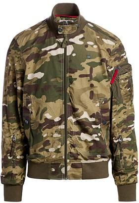 G Star Camouflage Bomber Jacket