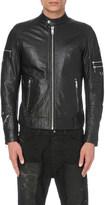 Diesel L-sound leather bomber jacket