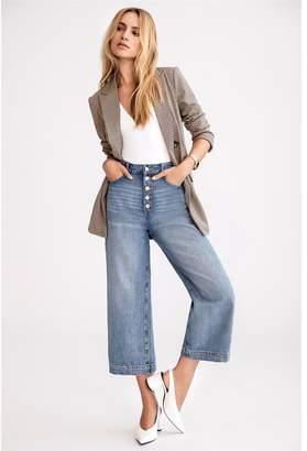Dynamite Karlie Button Front Culotte Jeans Lisa