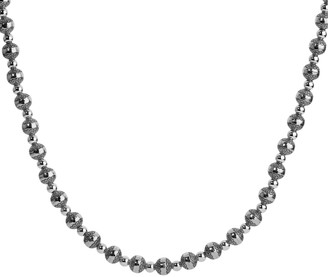 """American West Sterling 32"""" Beaded Necklace"""