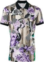 Versace floral print polo shirt - men - Cotton - XL