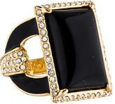 Rachel Zoe Resin & Crystal Cocktail Ring