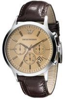 Emporio Armani Leather Chronograph Watch