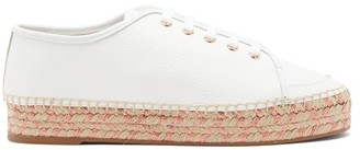 Sophia Webster Tulla Leather Espadrille Trainers - Womens - White