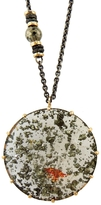 Jamie Joseph Pyrite in Rock Crystal Pendant Necklace