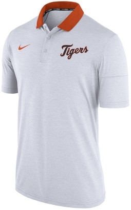Nike Men's Heather White Detroit Tigers GM Touch Polo