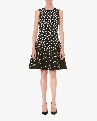 Carolina Herrera Fit Flare Sleeveless Jacquard Dress