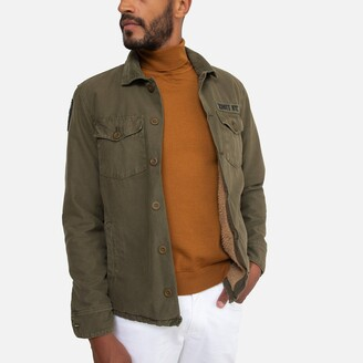 Schott Timber 2 Cotton Jacket with Sherpa Lining