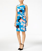 Ivanka Trump Floral-Print Sunburst Sheath Dress