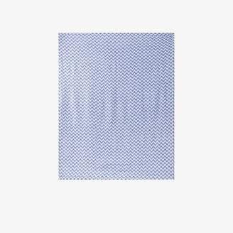 Frescobol Carioca Blue wave-stripe linen beach towel