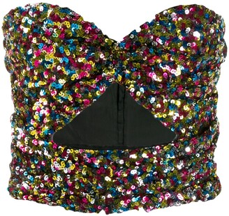 ATTICO Sequinned Strapless Top