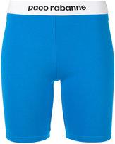 Paco Rabanne fitted shorts - women - Polyamide/Spandex/Elastane/Viscose - XS