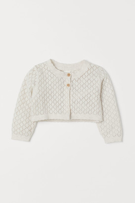 H&M Pointelle Bolero Sweater