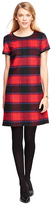 Brooks Brothers Wool Short-Sleeve Buffalo Check Dress