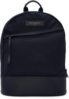 WANT Les Essentiels Navy Canvas Kastrup Backpack