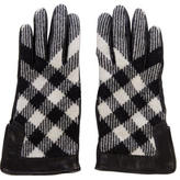 Burberry Beat Check Leather Gloves