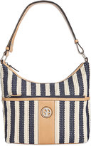 Giani Bernini Striped Straw Hobo, Only at Macy's