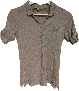 Burberry Grey Cotton Top for Women