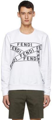 Fendi White Logo Sweatshirt