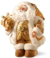 National Tree Company 14-Inch Glimmering Musical Santa Figurine in Gold