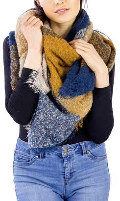 Just Jamie Colorblock Blanket Wrap Shawl