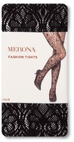 Merona Women's Plus-Size Tights Black Deco Lace 2X