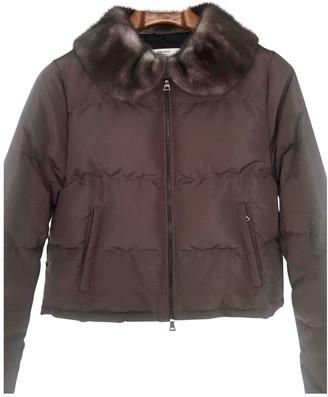 Prada Grey Fur Coats