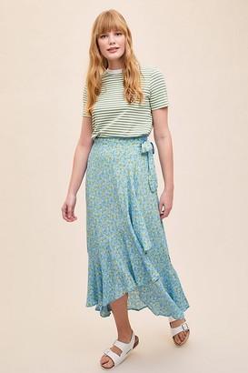 Faithfull The Brand Aubrie Ruffled-Printed Wrap Skirt