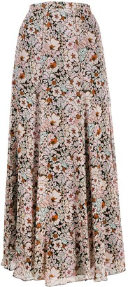 Giambattista Valli Floral Print Full Skirt