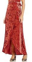 Band of Gypsies Crushed Velvet Wrap Skirt
