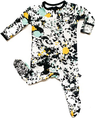 Paint Splatter Fitted One-Piece Pajamas
