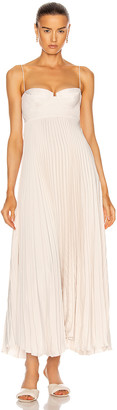 Magda Butrym Pleated Maxi Dress in Beige | FWRD