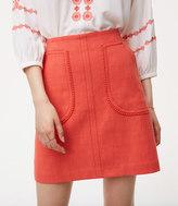 LOFT Pom Pom Pocket Shift Skirt